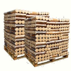 PAlette de buches de bois compressées